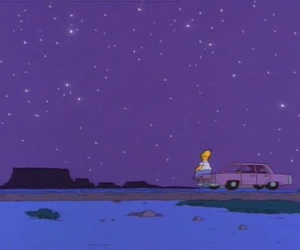 stars, homer, and simpsons image