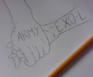 drawing, bts, and exo image
