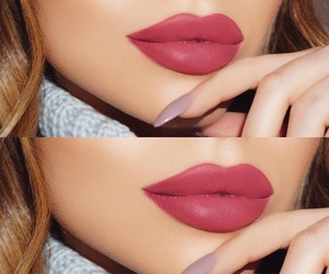 beauty, lips, and make up image