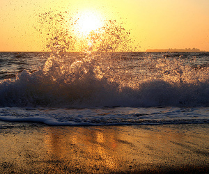 beach, water, and waves image