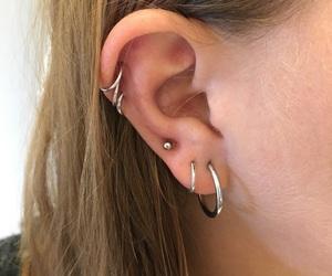 ear, earrings, and helix image