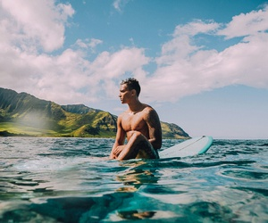 surf, beach, and boy image