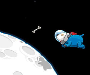 dog, space, and astronaut image
