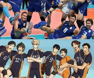 anime, volleyball, and haikyuu image