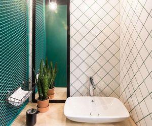 bathroom, design, and espelho image