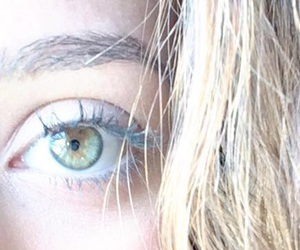 blond, eyes, and green image