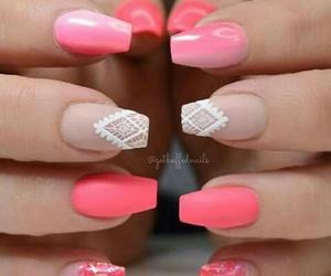 nails, uñas, and pink image