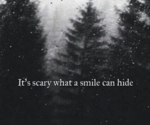 smile, scary, and hide image