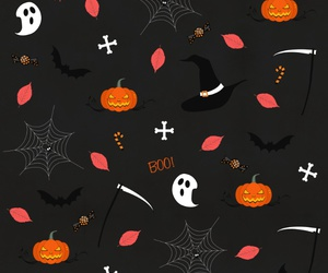 background, Halloween, and trick image