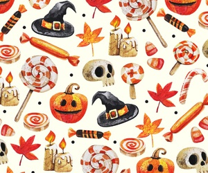 Halloween, pumpkin, and candy image
