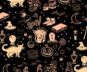Halloween, background, and boo image