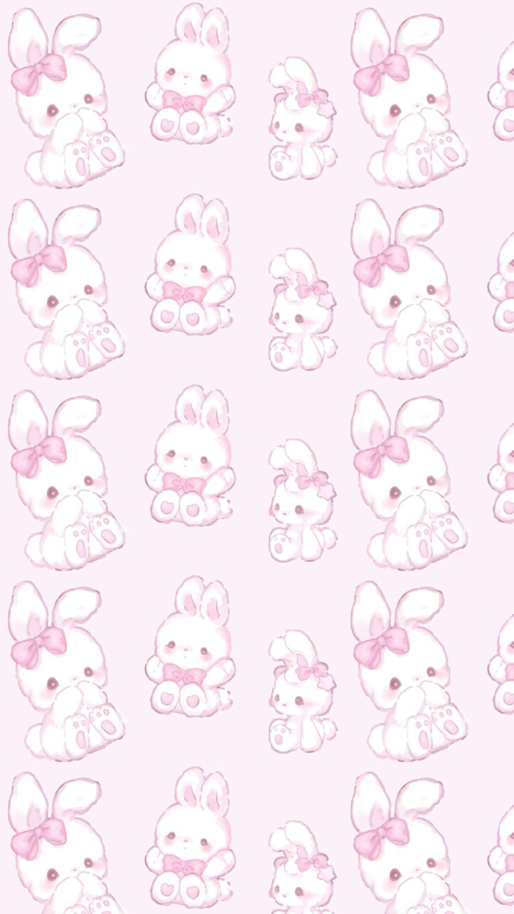 Kawaii Art Baby Background Beautiful Beauty Bow Bunny