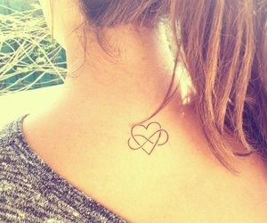 tattoo, heart, and hair image