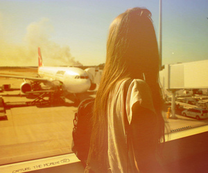airport, fun, and alone image
