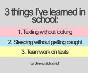 funny, quotes, and school image
