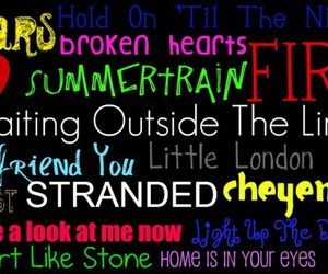 colourful, lyric, and songs image