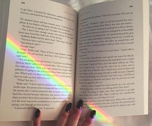 book, black, and color image