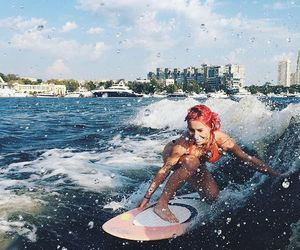 babe, beach, and ocean image
