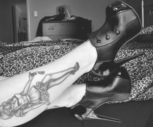 beautiful, shoes, and black image