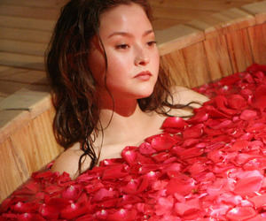 Devon Aoki, model, and red image