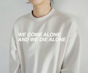 quote, grunge, and alone image