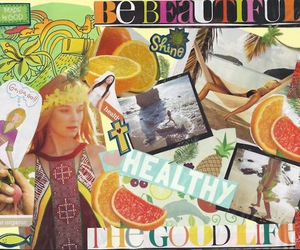 Collage, summer, and tropical image