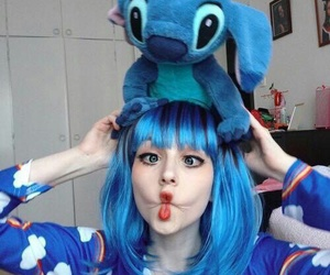 stitch, blue, and cosplay image