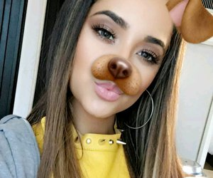 makeup, snapchat, and becky g image