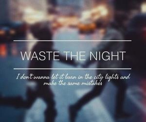 aesthetic, Lyrics, and waste the night image