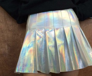 holographic, skirt, and tumblr image