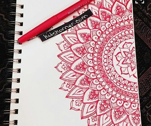 drawing, doodle, and mandala image