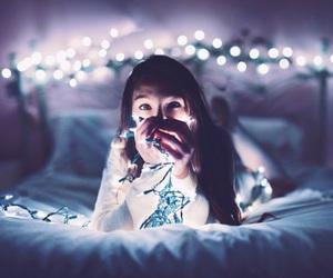 lights and girl image