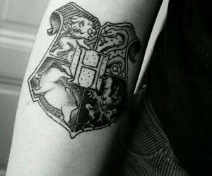 tattoo, hogwarts, and harry potter image
