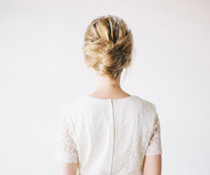bouffant, style, and bun image