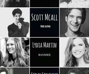 tyler posey, crystal reed, and lydia martin image