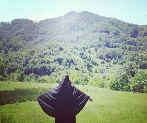 happy, islam, and niqab image