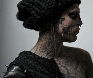 rick genest, tattoo, and zombie boy image