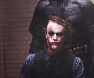 batman, joker, and heath ledger image