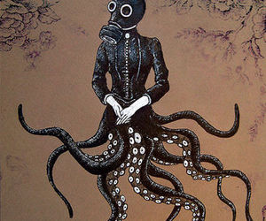 draw, octopus, and art image