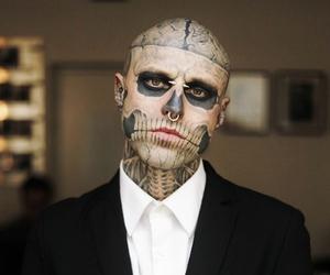 tattoo, rick genest, and zombie boy image