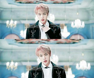 jin, bts, and wings image