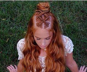 braid, curly, and hair image