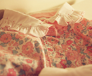 dress, floral, and girly image