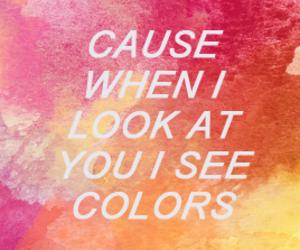 colors, Lyrics, and typography image