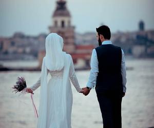 couple, muslim, and حُبْ image