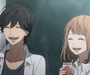 anime, orange, and orange anime image