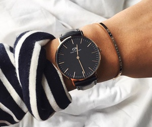 black, sweater, and watch image