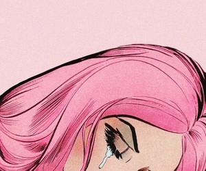 pink, cry, and sad image
