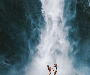 waterfall, summer, and friends image