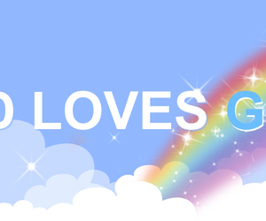 gays, love is love, and header image